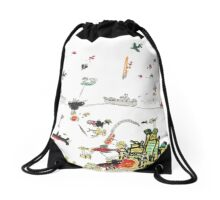 Ocean Battle Drawstring Bag