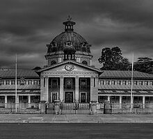 Colonial Elegance- B&W (45 Exposure HDR Panorama) - Bathurst Court House c1880, Bathurst, NSW Australia - The HDR Experience by Philip Johnson