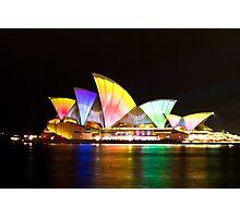 Sydney Opera House Light Show Photographic Print
