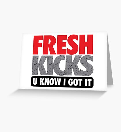 Fresh Kicks - Speckled Greeting Card