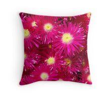 Pink Flowers - Fira, Santorini Throw Pillow