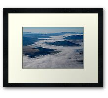 Through the clouds Framed Print