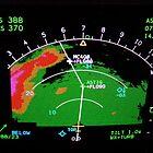 Aircraft weather radar landing at Milan Malpensa by BaZZuKa
