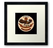 "Spaceballs Eagle 5 Logo ""Hero For Hire""  Framed Print"