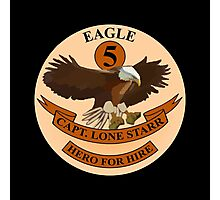 "Spaceballs Eagle 5 Logo ""Hero For Hire""  Photographic Print"