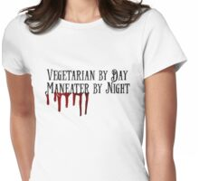 Vegatarian Maneater Womens Fitted T-Shirt