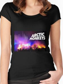 Arctic Monkeys (Alex Turner) in Concert Women's Fitted Scoop T-Shirt
