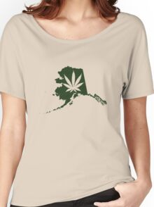 Alaska State Pot Leaf Women's Relaxed Fit T-Shirt