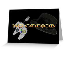 "007 Goldeneye - ""No Oddjob"" Greeting Card"