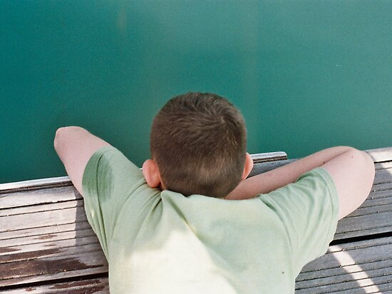 Jack looking into the sea by Emma Schroeder