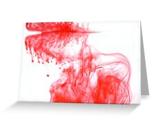 Red Ink spreading through water Greeting Card