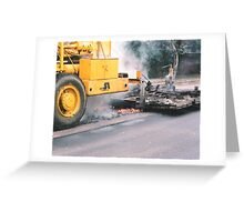 Oops, I Burnt The Road Greeting Card