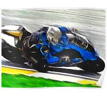 Motorcycle Racer Poster