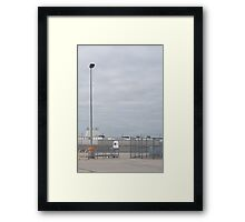 lonely trolley Framed Print