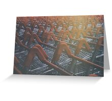 Shopping trollies Greeting Card