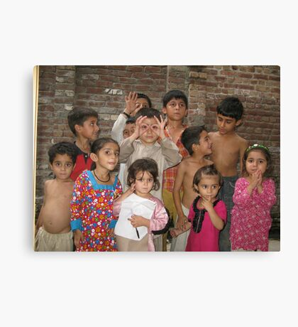 Summer with Afghan Kids Canvas Print