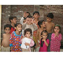 Summer with Afghan Kids Photographic Print