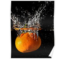 A splash of orange Poster