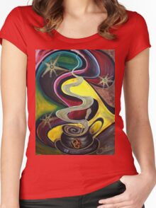 Organo Gold Coffee.. Women's Fitted Scoop T-Shirt