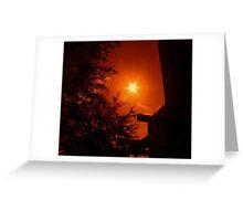 Dark Red Morning - Florida Greeting Card