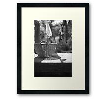 Basket Framed Print