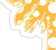Yellow Polka Dots Palmetto Moon Sticker