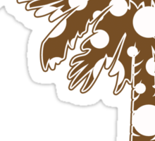 Brown Polka Dots Palmetto Moon Sticker