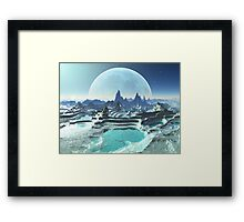 Moon Pools on Kresor 9 Framed Print
