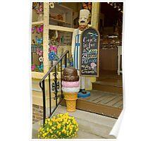 The right size ice cream cone Poster