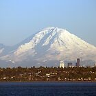Mount Rainier From The Edmonds Ferry. by Todd Rollins