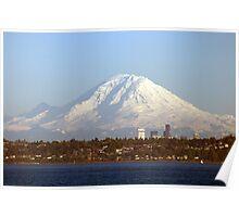 Mount Rainier From The Edmonds Ferry. Poster