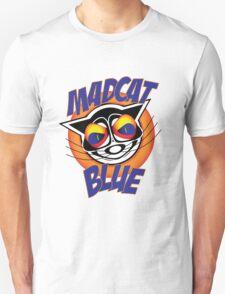Mad Cat Blue Unisex T-Shirt