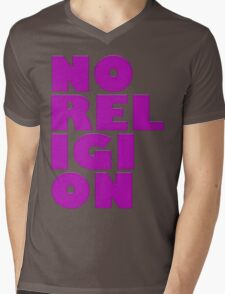 NORELIGION PINK Mens V-Neck T-Shirt