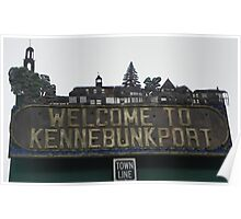 Welcome to Kennebunkport Maine Poster