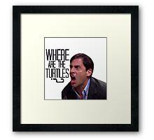 Michael Scott - Where Are the Turtles? Framed Print