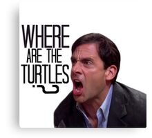 Michael Scott - Where Are the Turtles? Canvas Print