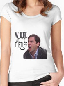 Michael Scott - Where Are the Turtles? Women's Fitted Scoop T-Shirt