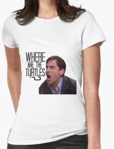 Michael Scott - Where Are the Turtles? Womens Fitted T-Shirt