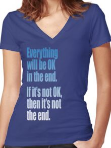 EVERYTHING  BLUE Women's Fitted V-Neck T-Shirt