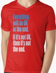 EVERYTHING  BLUE Mens V-Neck T-Shirt