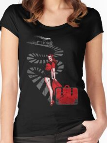 RED SIGNAL Women's Fitted Scoop T-Shirt