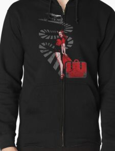 RED SIGNAL Zipped Hoodie