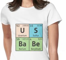 Periodic Table - US Babe Womens Fitted T-Shirt