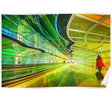 Moving Walkway at Chicago O'Hare, Terminal 1 Poster