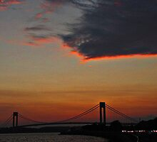 The Dragon Watches Over The Verrazano by Mistyarts