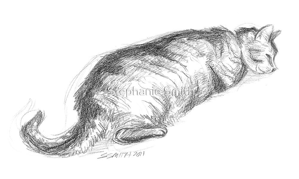 Tinkerbell Sleeping - Pencil Sketch by Stephanie Smith