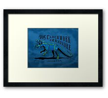 Clockwork Carnivore (Blue EUPARKERIA-TYPE) Framed Print