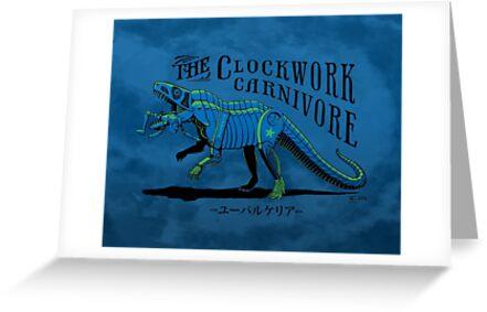 Clockwork Carnivore (Blue EUPARKERIA-TYPE) by cubelight