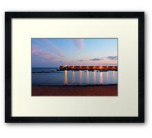 Twilight pier Framed Print