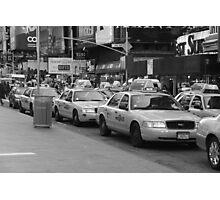 NYC Cabs Photographic Print